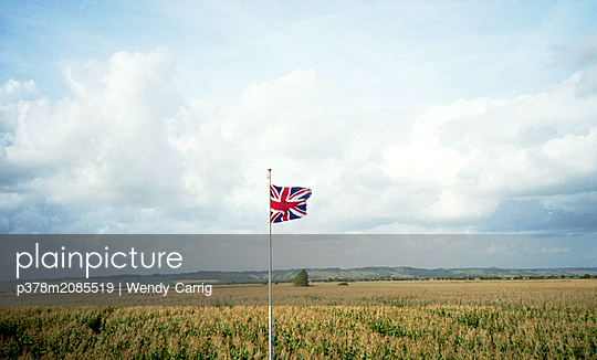 Flag in field - p378m2085519 by Wendy Carrig