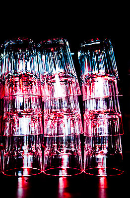 Stacked glasses - p1221m1131855 by Frank Lothar Lange