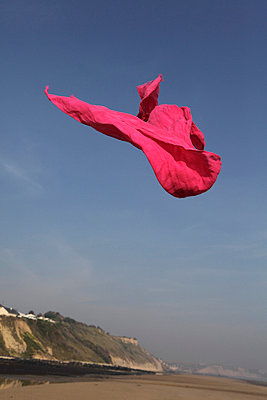 Pink shawl in the air - p8490010 by Eric Zeziola