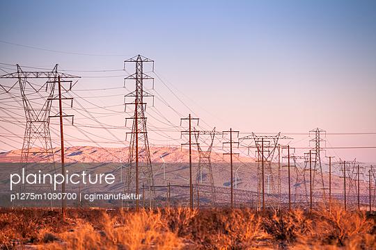 Windpark und Überlandleitungen, Palm Springs - p1275m1090700 von cgimanufaktur