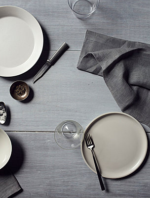 Still Life on Grey Dining Table I - p938m754451 by Christina Holmes