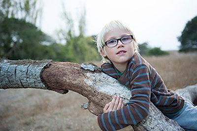 Climbing a tree - p920m943520 by Jude Mooney
