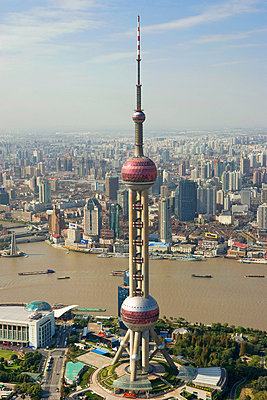 Oriental pearl tower - p9246149f by Image Source