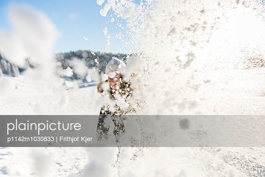 Fun in the snow - p1142m1030833 by Runar Lind
