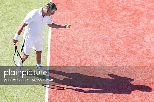 Tennis player training