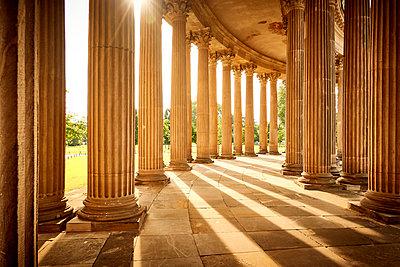 Arcades at sunlight, park of Sanssouci, Potsdam - p851m2205879 by Lohfink