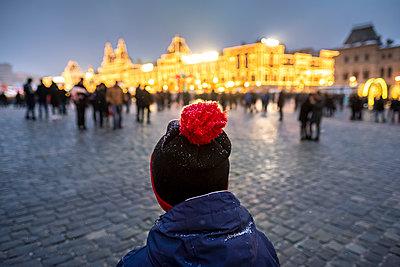 Auf dem Roten Platz bei Nacht - p890m2045453 von Mielek
