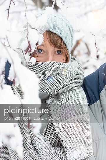 In the winter forest - p454m2071801 by Lubitz + Dorner