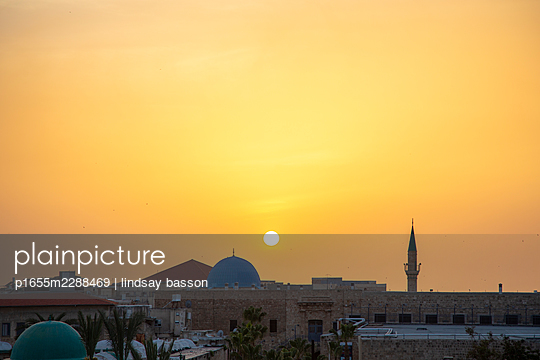 Sunset In Akko - p1655m2288469 by lindsay basson