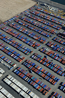 Shipping container port - p1048m1069316 by Mark Wagner