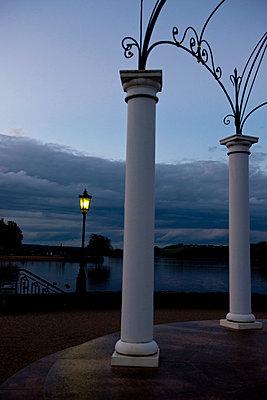Pavillion at lakeshore - p533m955742 by Böhm Monika