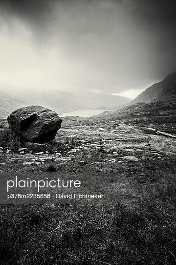 Misty mountain landscape - p378m2235658 by David Lichtneker