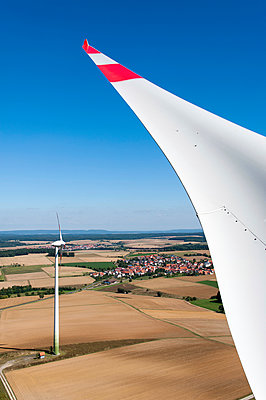 Landscape with wind turbines - p1079m891078 by Ulrich Mertens