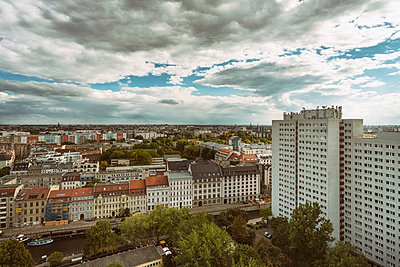 View over Nikolaiviertel of Berlin - p1332m1445744 by Tamboly