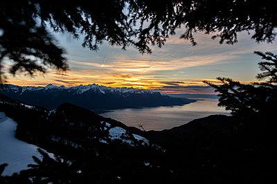 Sonnenuntergang am Genfer See - p1455m2043675 von Ingmar Wein