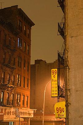 Street scene at night in Chinatown;  Lower Manhattan;  New York City - p5690147 by Jeff Spielman