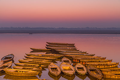 Sunrise at the Varanasi - p1408m1465097 by Guy Nesher