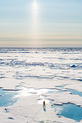 Watchguard at North Pole, Arctic - p871m2077738 by Michael Runkel