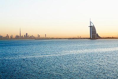 Burj al Arab at sunset - p312m1025032f by Magnus Ragnvid