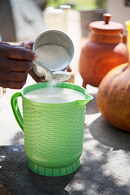 Africa, Namibia, Curdled milk - p1167m2272295 by Maria Schiffer