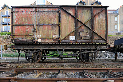 Old railway truck - p1048m1080122 by Mark Wagner