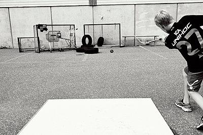 Hockeyspieler beim Training - p972m1088658 von Felix Odell