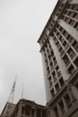 Blurred building - p495m903922 by Jeanene Scott