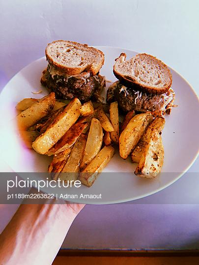Home made burgers - p1189m2263822 by Adnan Arnaout