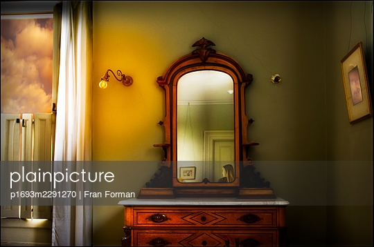 Dresser with Mirror - p1693m2291270 by Fran Forman