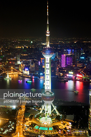 Oriental pearl tower shanghai - p9246175f by Image Source