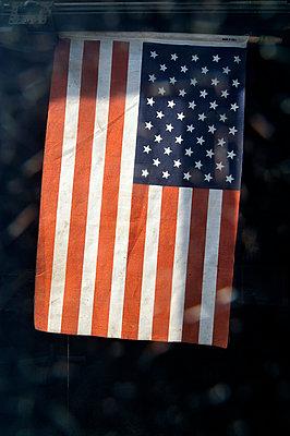 American flag - p1047m789459 by Sally Mundy