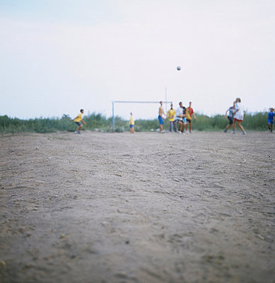 Children playing football - p7090031 by Axel Kohlhase