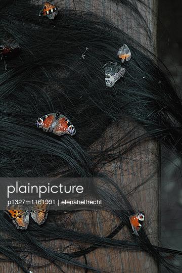 Schmetterlinge im Haar - p1327m1161991 von elenahelfrecht