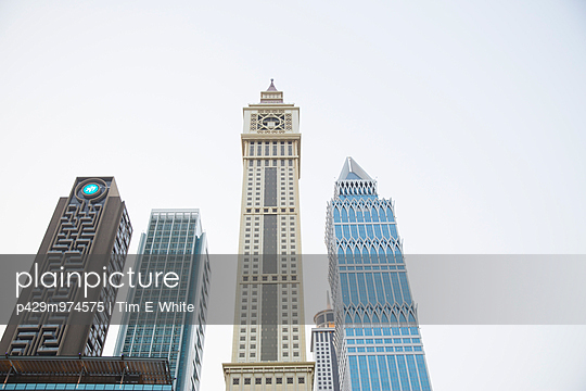 Modern architecture, Dubai, UAE - p429m974575 by Tim E White