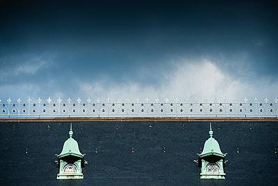 Dach des Strafjustizgebäudes am Sievekingplatz, Hamburg - p1493m1584656 von Alexander Mertsch