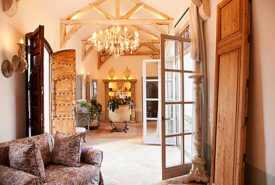 Luxury livingroom and foyer - p1023m756098f by Martin Barraud
