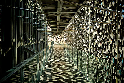 Corridor of the MUCEM - p445m1153167 by Marie Docher
