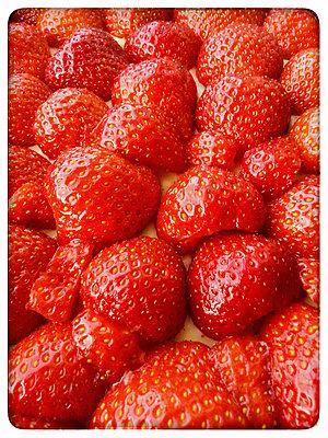 Studio, strawberries, cake - p300m1009082f by Kristian Peetz