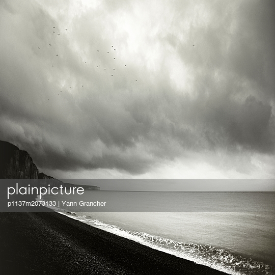 Küste bei Fécamp - p1137m2073133 von Yann Grancher