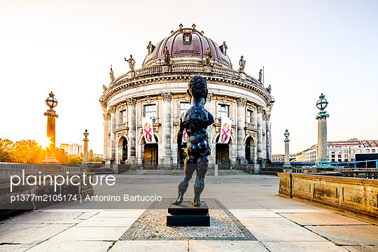 Germany, Berlin, Berlin Mitte, Museum island, Bode Museum, Bode Museum on the Museum Island on Spree River - p1377m2105174 by Antonino Bartuccio