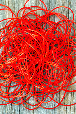 Red Twine Disorganization - p1436m2044670 by Joseph S. Giacalone