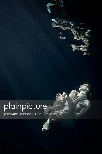 underwater ballet - p1554m2158983 by Tina Gutierrez