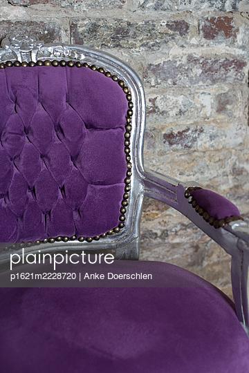 Purple armchair - p1621m2228720 by Anke Doerschlen