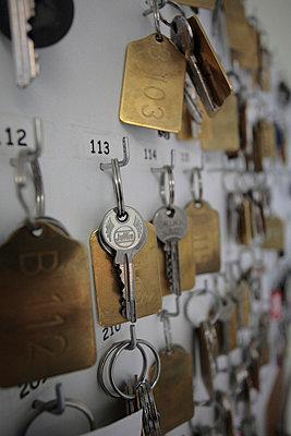 Schlüsselbrett im Hotel - p4830201 von Arne Gerson