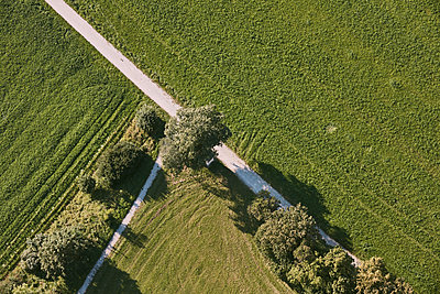 Aerial view, Fields - p913m2125498 by LPF