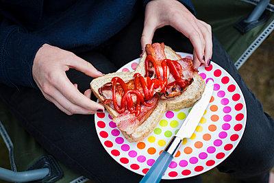 Sandwich mit Schinken - p1057m1041481 von Stephen Shepherd