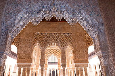 Patio of the Lions at Alhambra - p1251m1061133 by Heikki Tabell