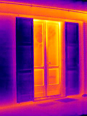 Thermal image of doors - p429m756439 by Joseph Giacomin