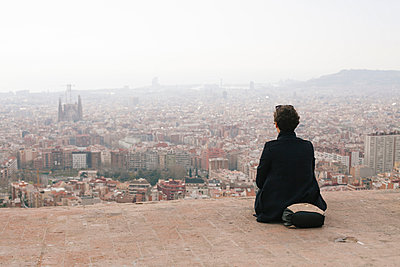 View over Barcelona - p933m958877 by Stefan Hobmaier