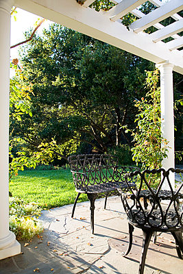 Outdoor Patio With Wrought Iron Dining Set - p5550714f by LOOK Photography